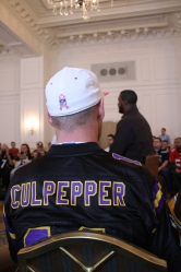 Mr Culpepper was a big chap. At the Fan Forum.